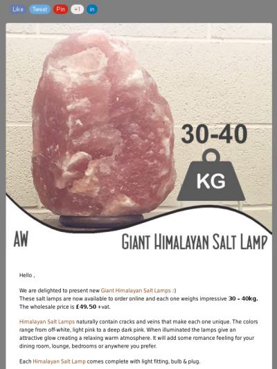 Giant Himalayan Salt Lamps 30 40 Kg Each At Ancient Wisdom Ancient