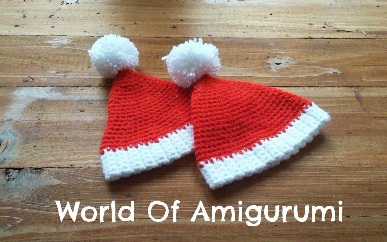 Cappello mobili ~ Cappello di babbo natale per amigurumi how to crochet a santa