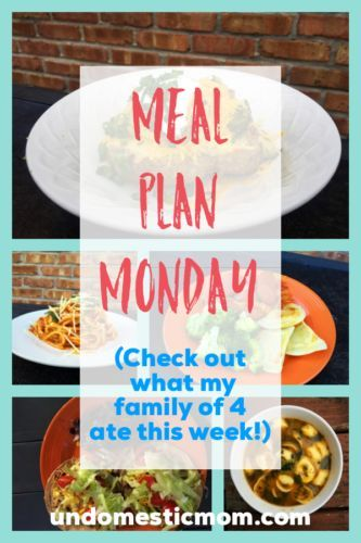 Family of Four Meal Plan! images