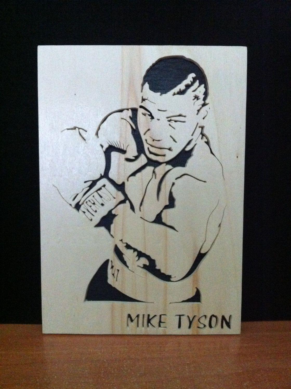 Mike tyson Wooden portrait scroll saw, 12.99 Mike tyson