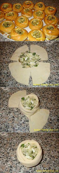 Булочки с начинкой - Кулинарные рецепты