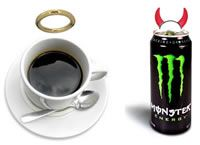 COFFEE VS ENERGY DRINKS! Struggling to stay awake? whats better? Coffee or energy drink? A: COFFEE! The caffine in one cup should give you about five hours of alertness and it's packed full of antioxidants. The sugar from energy drinks sets you up for an inevitable crash!