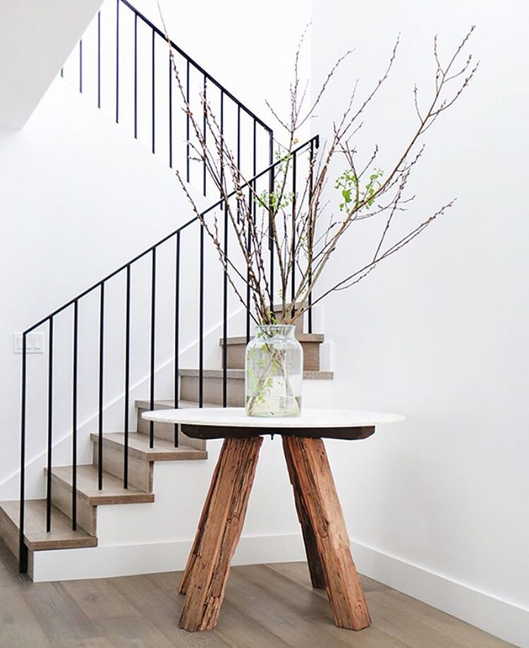Simple Metal Banister Modern Stair Railing House Stairs Modern
