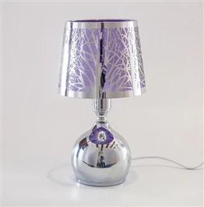 Silver Purple Touch Sensitive Aroma Lampshade 27cm Vibzin Uk Aroma Oil Warmer Purple