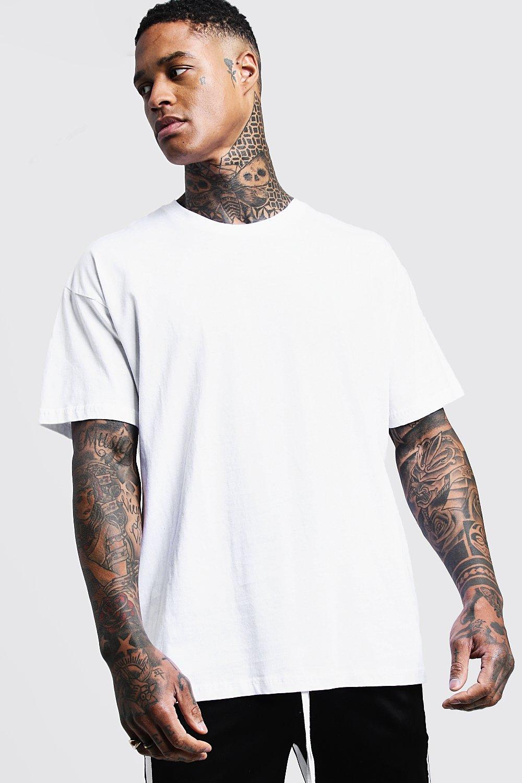 Oversized Crew Neck T Shirt Boohooman Shirt Outfit Men Plain White T Shirt Neck T Shirt [ 1500 x 1000 Pixel ]