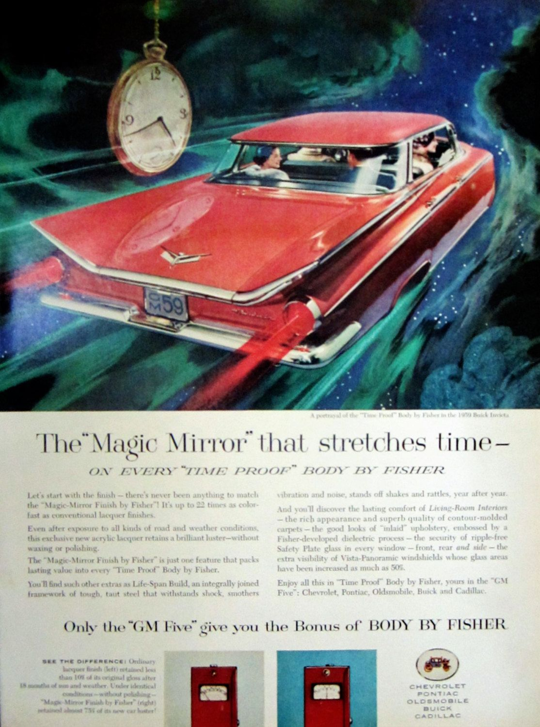1958 59 buick invicta gm body by fisher vintage advertisement 1958 59 buick invicta gm body by fisher vintage advertisement classic car automotive wall art fandeluxe