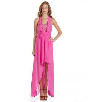 f1b6017d5a Jessica Simpson Halter Hi-Low Maxi Dress