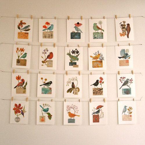 Bird No.26 by Geninne on Etsy