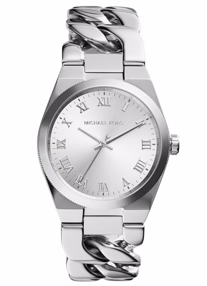 711ade480bc6 MICHAEL KORS MK3392 WOMEN S CHANNING WHITE DIAL SILVER TONE SS WATCH  250  NWT  MichaelKors  Fashion