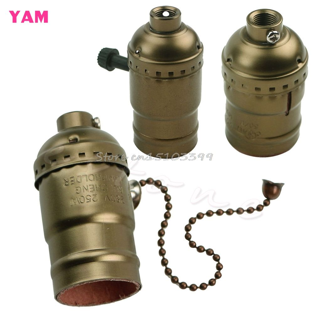 Aluminium E26 E27 Lamp Accessoires Socket Houder Vintage Antieke Edison Lamp G205m Beste Kwaliteit Bulb Lamp Bases Retro Lamp