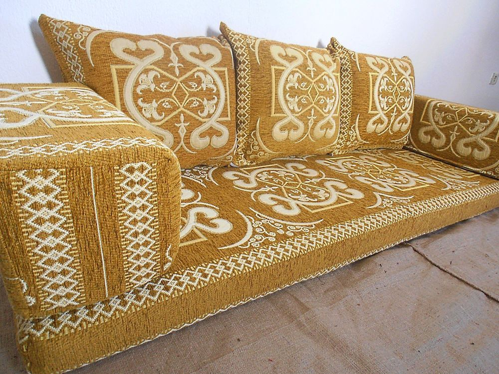 This Floor Sofa Set Contains 1 Seating Couch 3 Backrest Pillows And 2 Armrest Handmade Authentic Middle Eastern Will