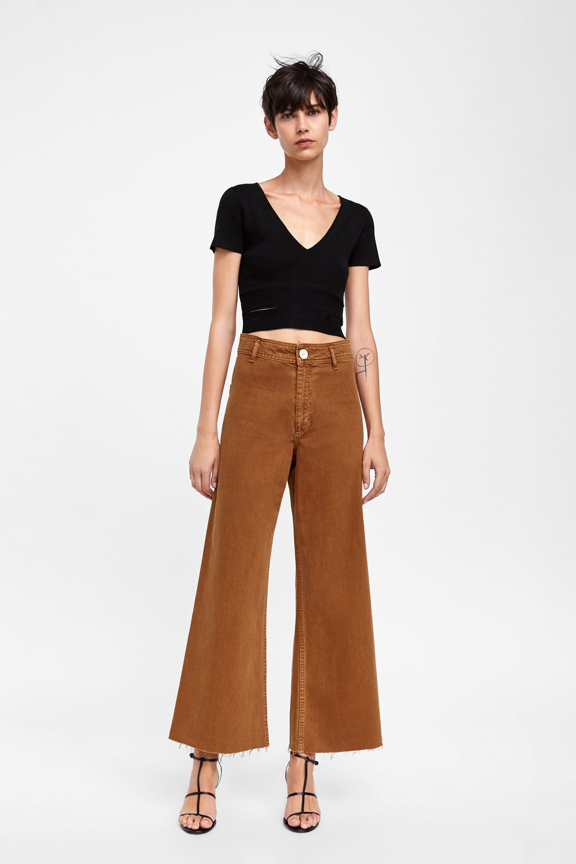 Imagen 1 De Jeans Zw Premium Marine Straight De Zara Zara Breit Geschnittene Jeans