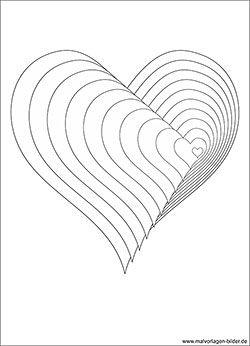 3d Ausmalbild Mit Einem Herz Malvorlagen Ausmalbilder Zum