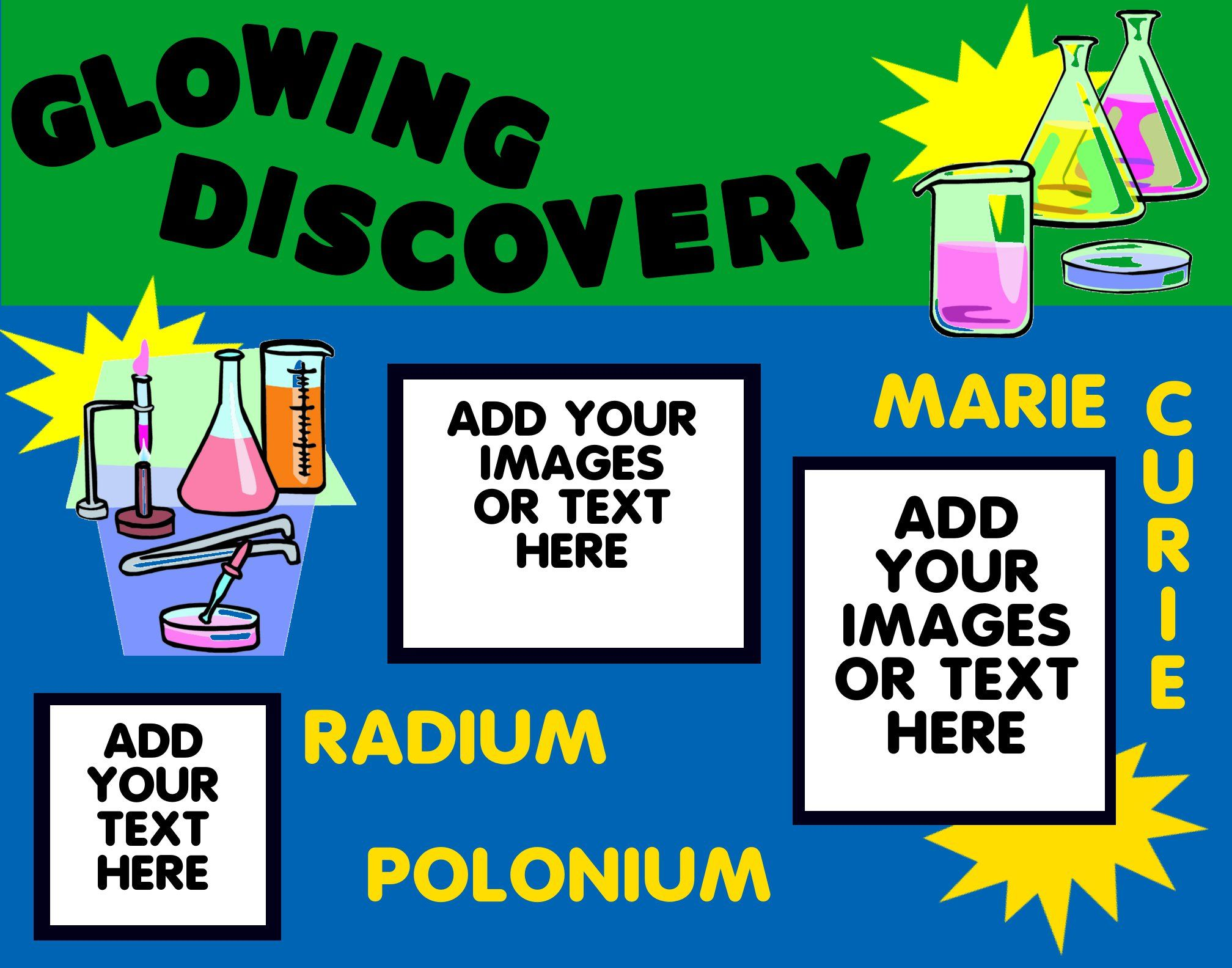 make a science fair project about glowing marie curie make a science fair project about glowing marie curie chemistry poster ideas for kids