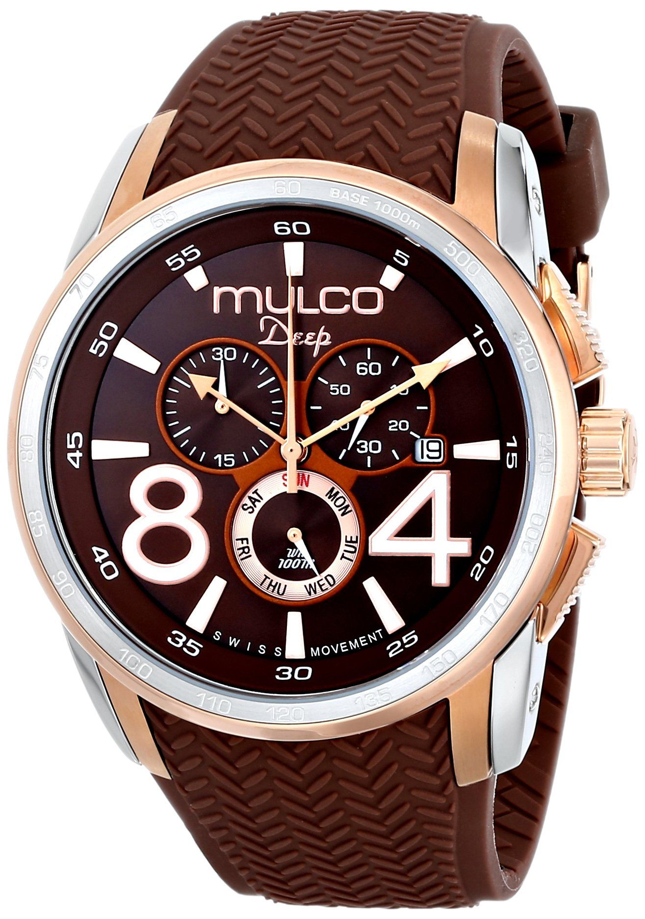 MULCO Unisex MW1-29849-033 Analog Display Swiss Quartz Brown Watch