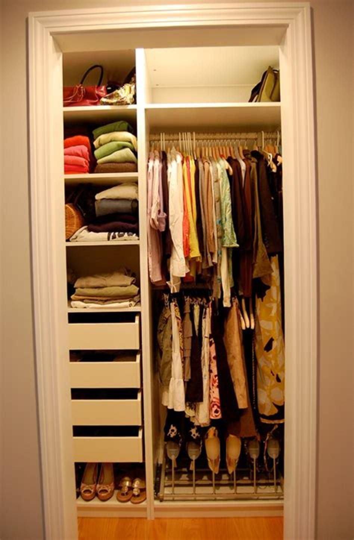 40 Best Small Walk In Bedroom Closet Organization And Design Ideas For 2019 14 Closet Small Bedroom Small Closet Storage Small Closet Organization Bedroom