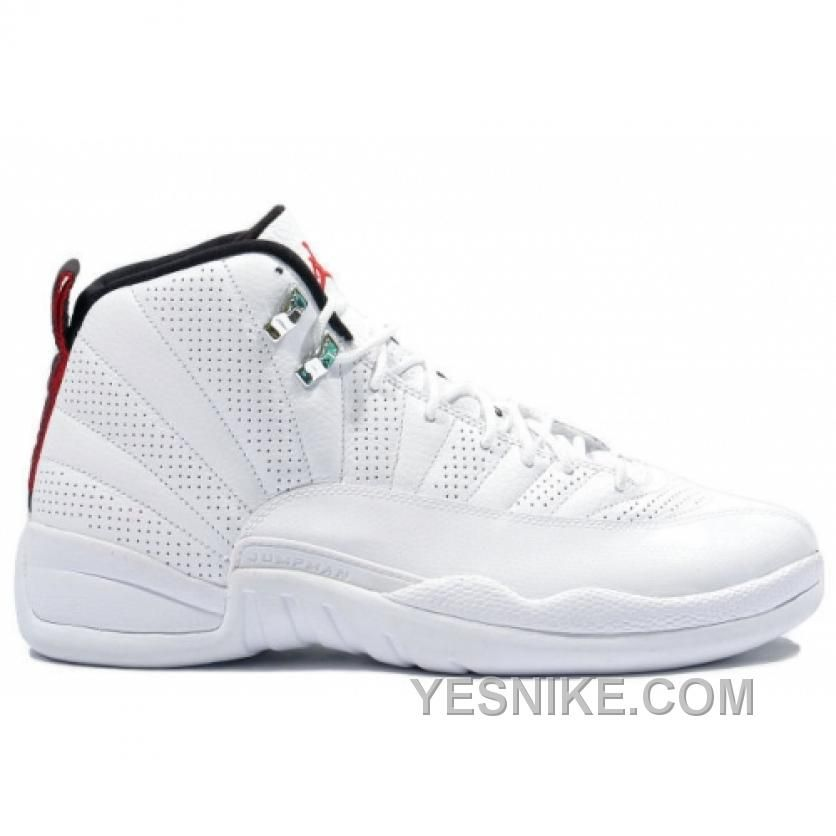 6af4ca1979b5e0 www.yesnike.com ... BIG DISCOUNT! 66% OFF! AIR JORDAN RETRO 12 PS RISING  SUN WHITE VARSITY RED BLACK 151186-163 Only  78.00