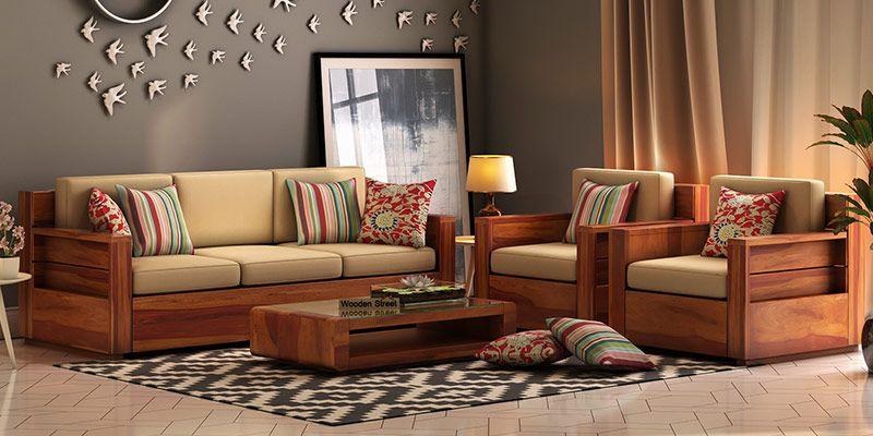 Juego De Sofas De Madera Compre Juegos De Sofas De Madera En Linea En India Hasta Un 55 De Descu In 2020 Wooden Sofa Set Designs Wooden Sofa Designs Sofa Set Designs