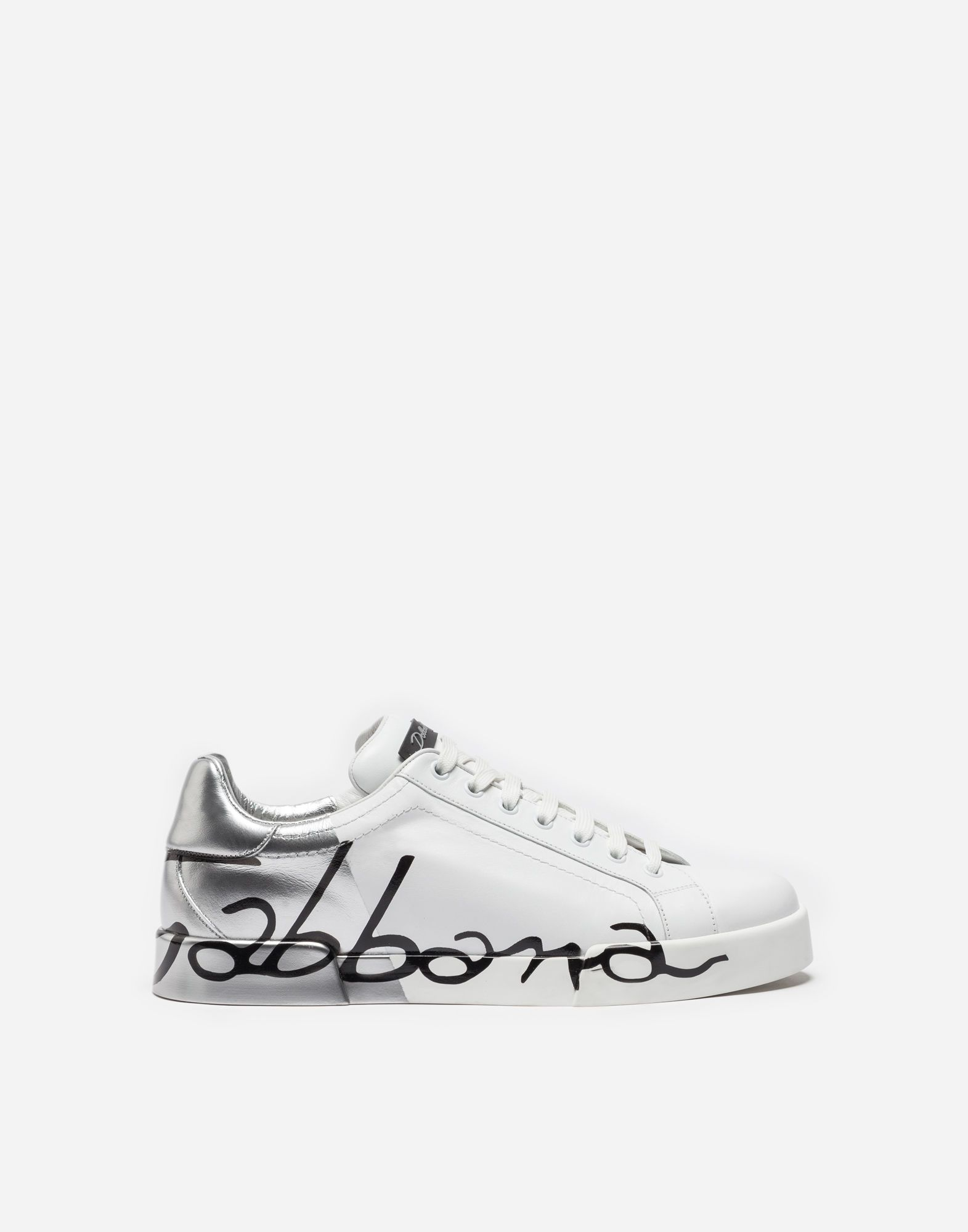 65c06a04cfb DOLCE   GABBANA PORTOFINO SNEAKERS IN LEATHER AND PATENT.  dolcegabbana   shoes