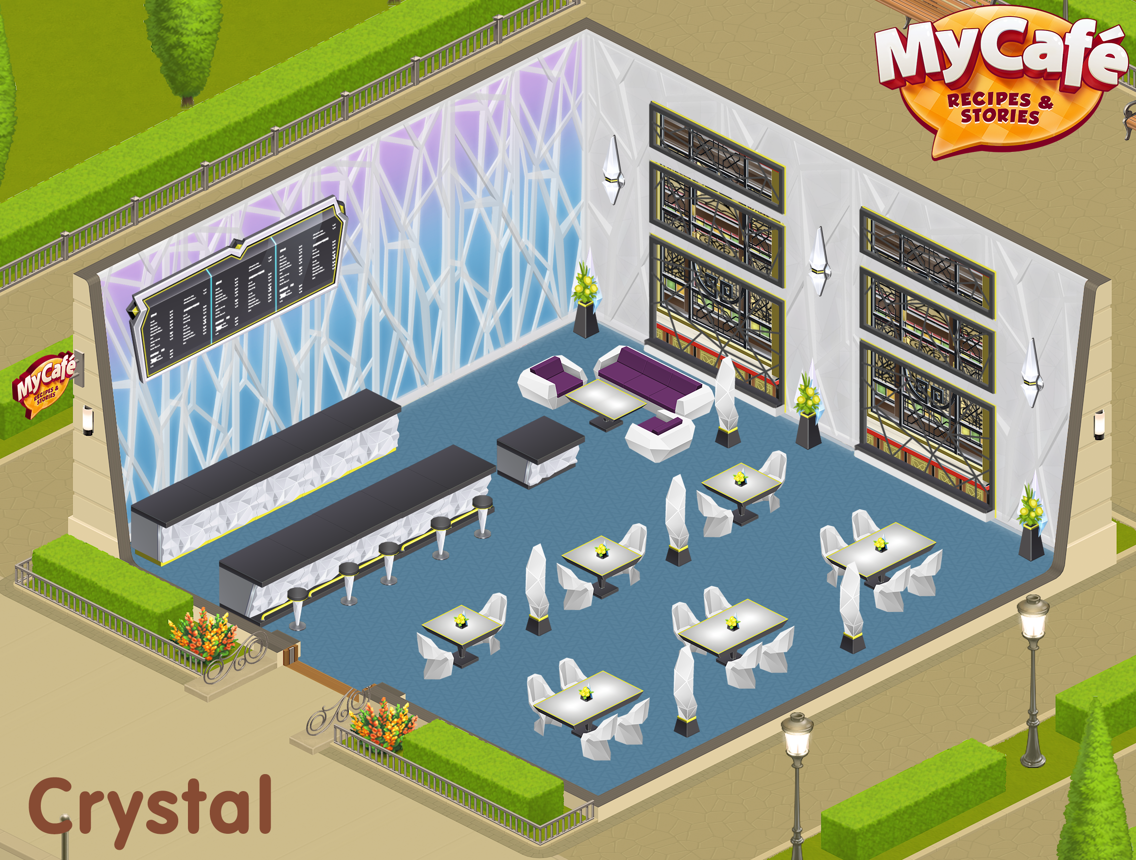 Crystal Northern Lights Style My Cafe Game Mycafe Mycafegame Cafe Design Cafe Cafe Decor