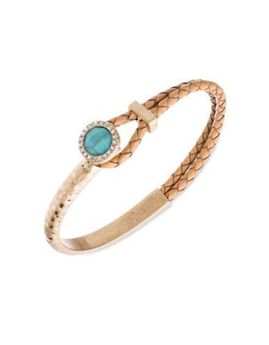 Lonna & Lilly Semi-Precious Turquoise Braided Bracelet Women's Gold