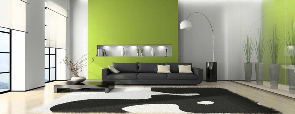 Wohnzimmer Modern : Wohnzimmer Modern Grau Grün ~ Inspirierende, Modern  Dekoo