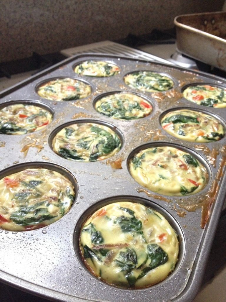Bake Eggs In Muffin Tins Add Veggies And Salsa Top With
