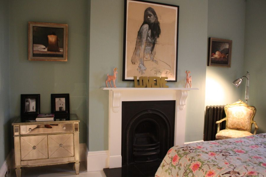 A Striking Victorian Terraced House Finished With Stylish Decor And Contemporary Furniture The Hous Victorian Bedroom Victorian Terrace Interior Home Bedroom