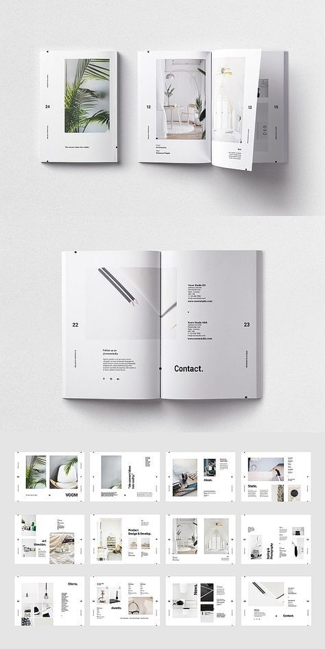 #lookbook #portfolio #magazine #brochure #template #indesign #layout #design