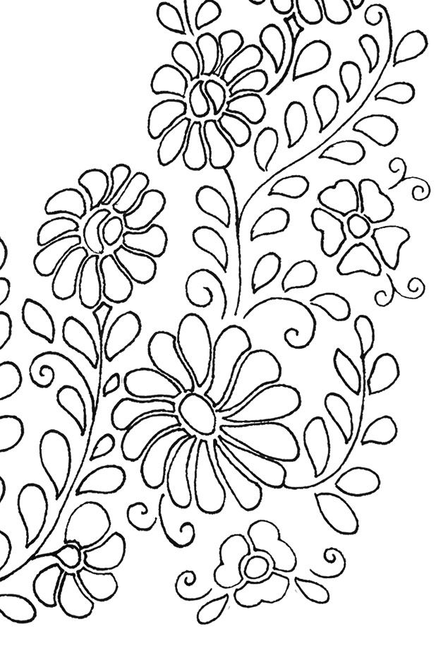 Mexican Floral Yoke Embroidery Pattern | pintura Bauer | Pinterest ...