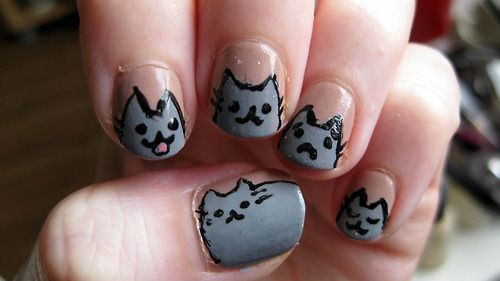 40 Kitty Cat Nail Designs - MEOW! 40 Kitty Cat Nail Designs Beauty Pinterest