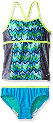 Speedo Girls Swimsuit Two Piece Tankini Thin Strap Manufacturer Discontinued