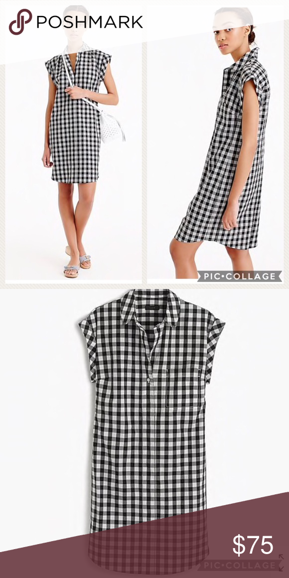 e21f388e908 Classic short-sleeve shirtdress in gingham
