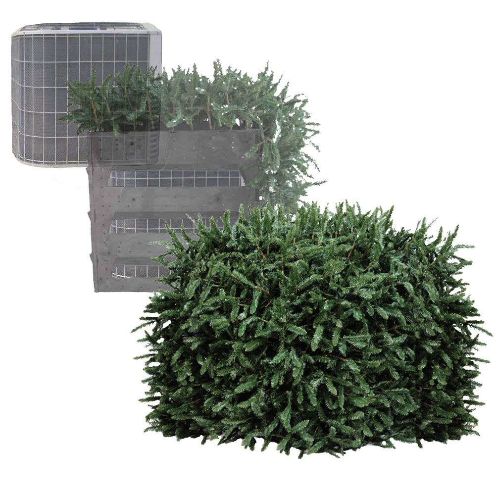 Faux Bush Equipment Cover - An equipment cover that looks like a ...