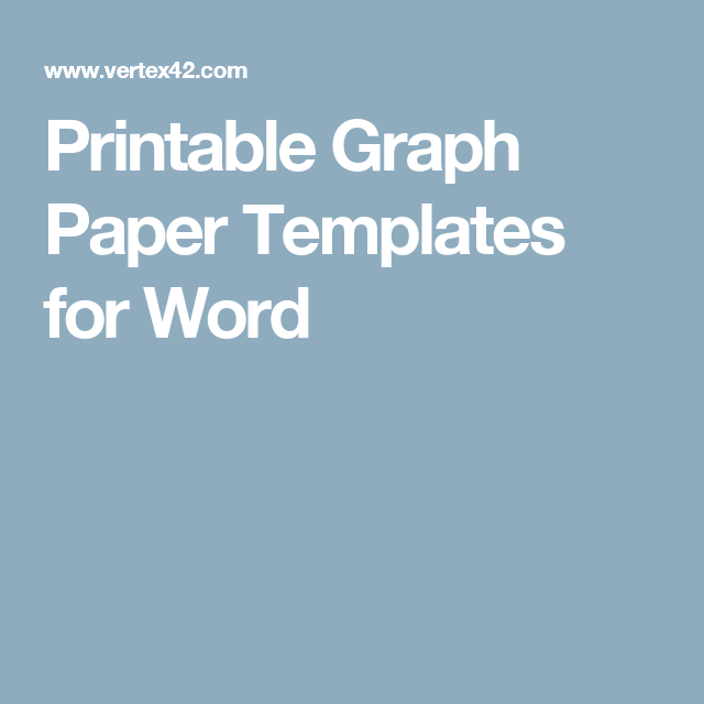 Printable Graph Paper Templates For Word  Mix    Graph