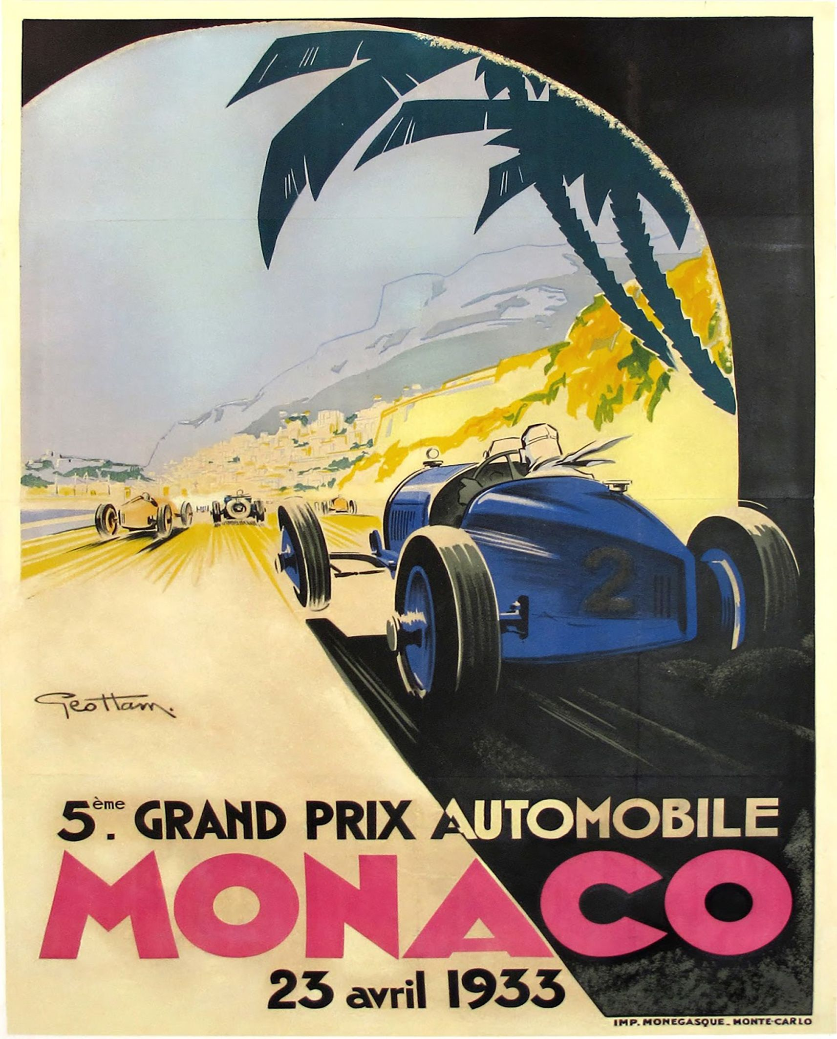 16x24 1949 European Grand Prix Vintage Style Racing Poster