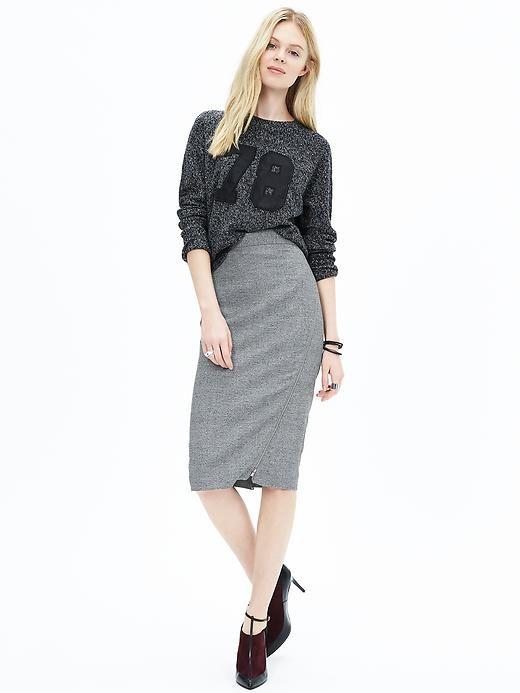 4749180fde Asymmetrical-Zip Gray Pencil Skirt - serious but whimsical   My ...
