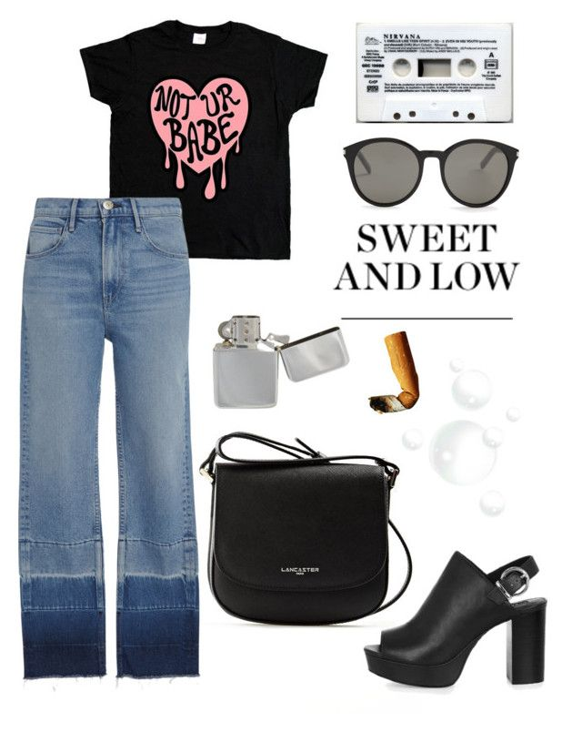 """""""But could be."""" by schenonek on Polyvore featuring moda, Lancaster, 3x1, Yves Saint Laurent, Topshop y Veras"""