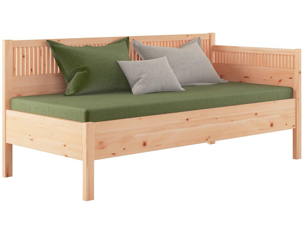 zirben schlafsofa julia 90 x 200 cm zirbenholz massiv metallfrei bettsofa aus zirbenholz. Black Bedroom Furniture Sets. Home Design Ideas