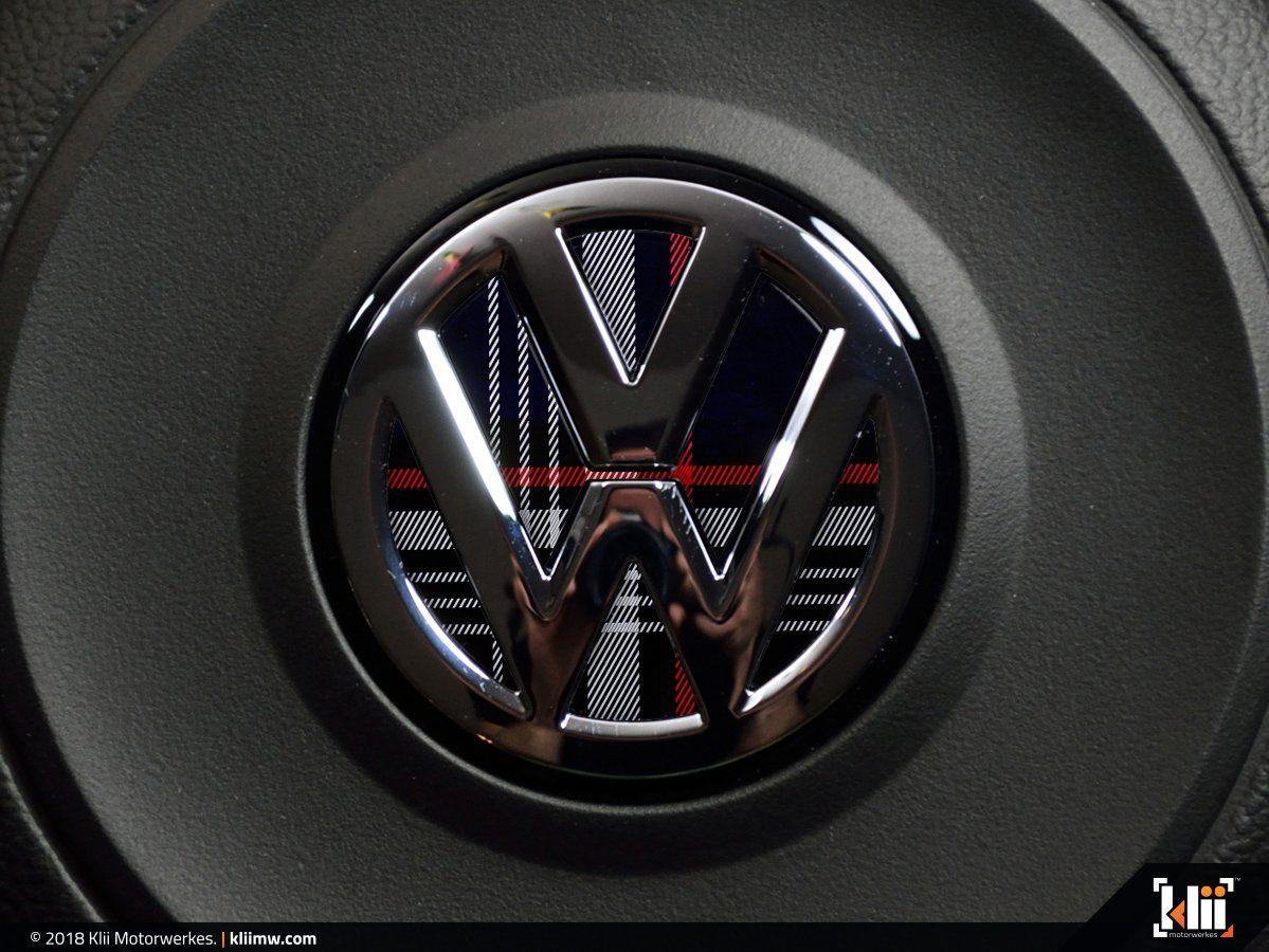 Vw Steering Wheel Badge Insert Mk7 Gti Plaid Volkswagen