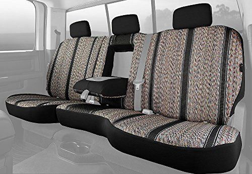 Fia TR4292 BLACK Custom Fit Rear Seat Cover Split Seat 6040  Saddle Blanket Black -- ** AMAZON BEST BUY **