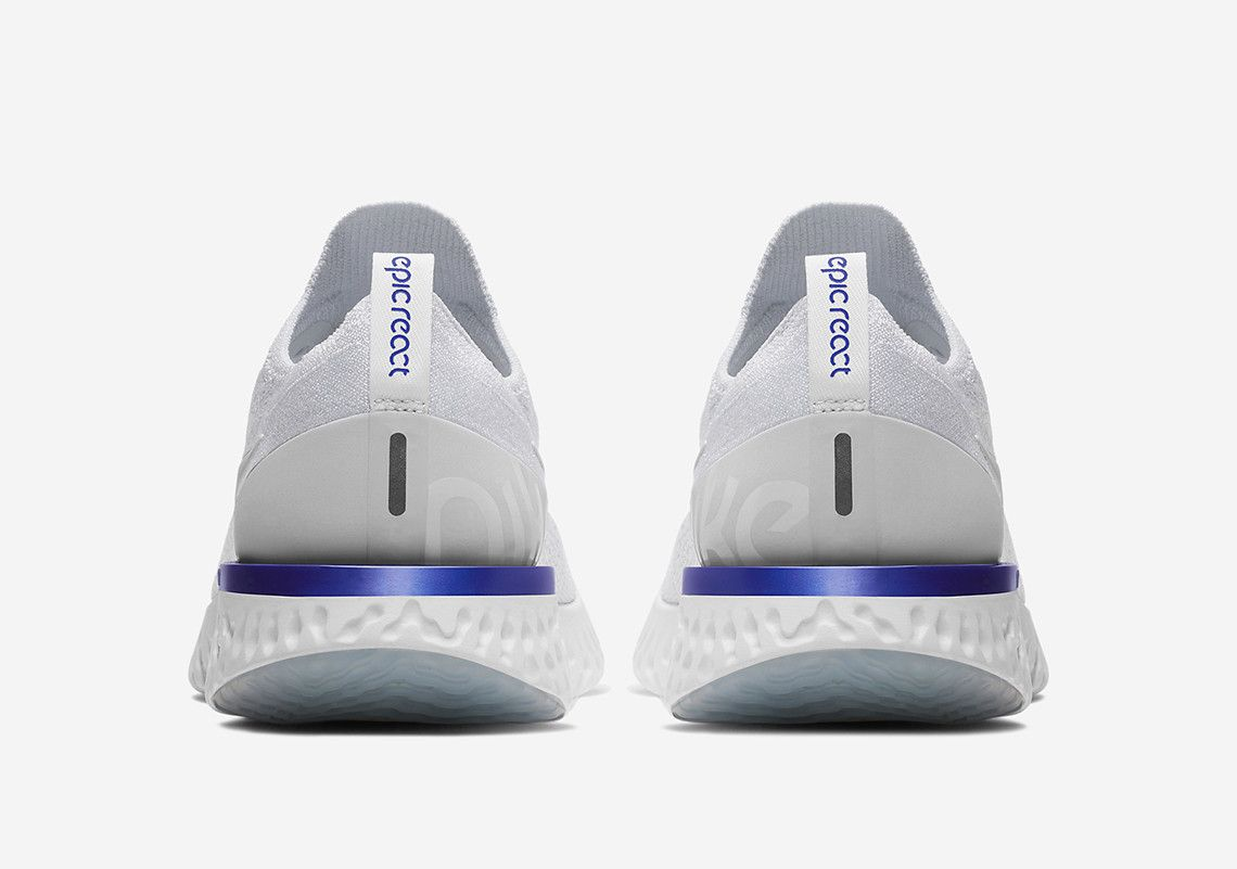 quality design b982b a4097 Nike Epic React AQ0067-100 Blue White Nike+ App Official Images + Release  Info