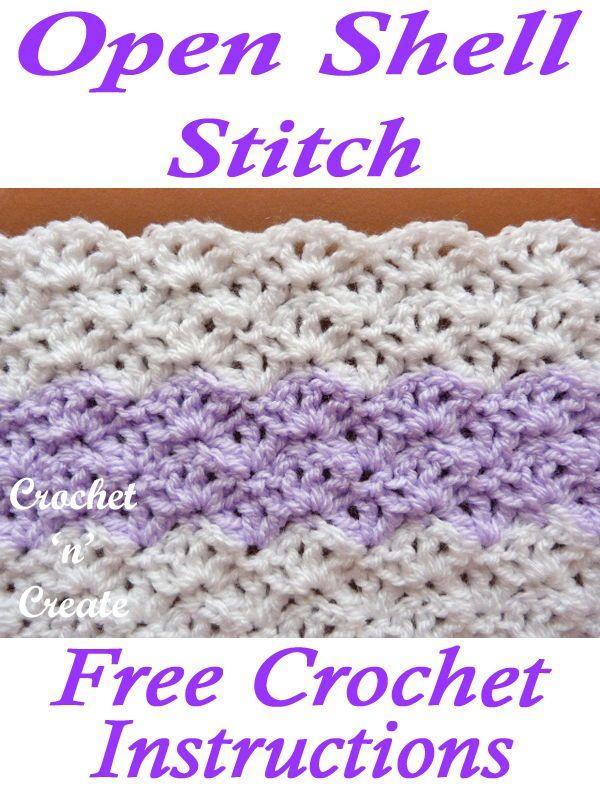 Open Shell Crochet Stitch Crochet Patterns Crochet Crochet