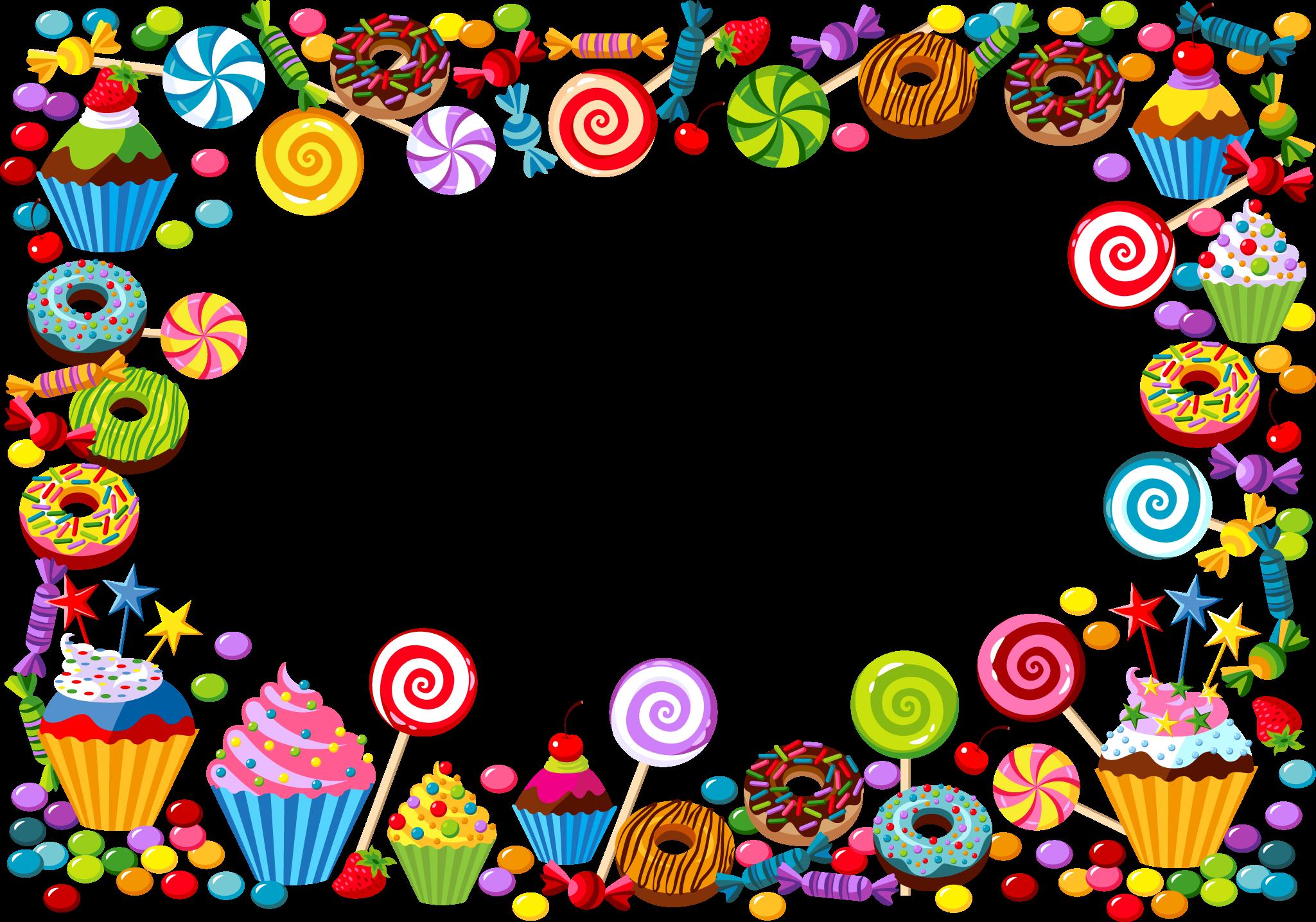 Candy cane Bonbon Gummy bear Vector candy border 2049