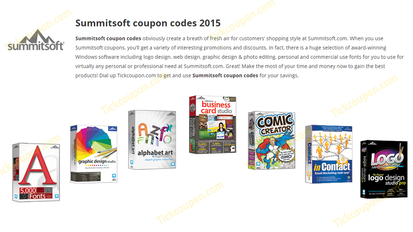 Summitsoft coupon codes obviously create a breath of fresh