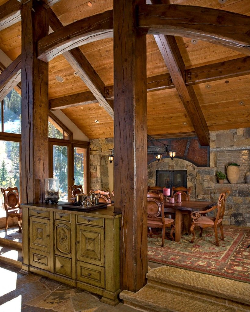 Adding A Dining Room Addition Buffets  A Homey Addition To Dining Areas  ∘⚜∘Rustic Log