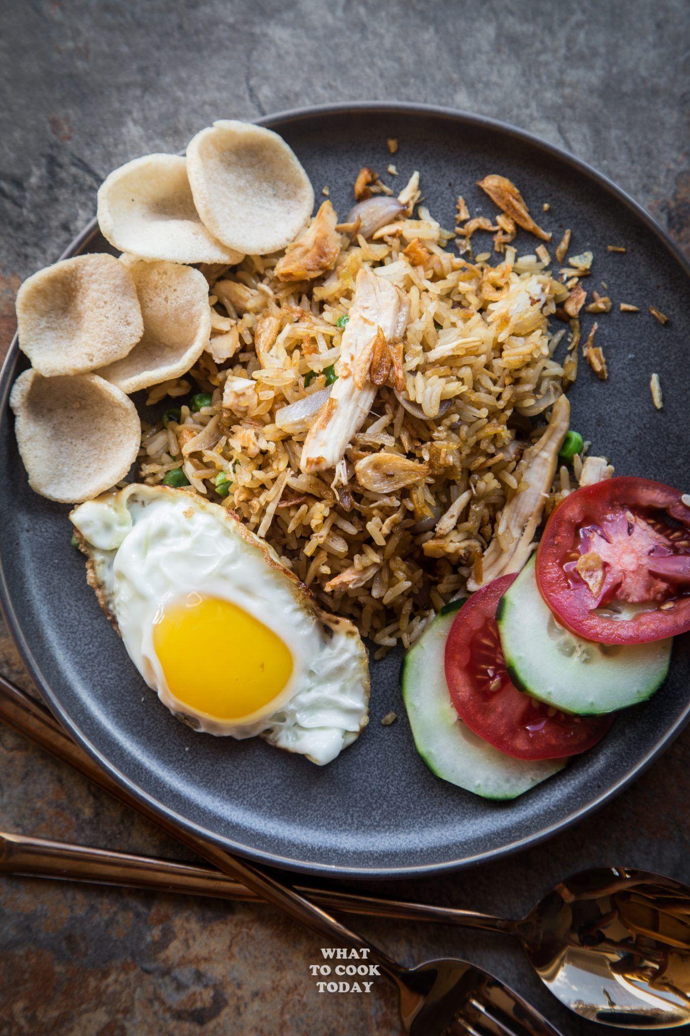Leftover Turkey Nasi Goreng Indonesian Fried Rice Nasigoreng Turkey Friedrice Indian Rice Recipes Nasi Goreng Asian Dishes