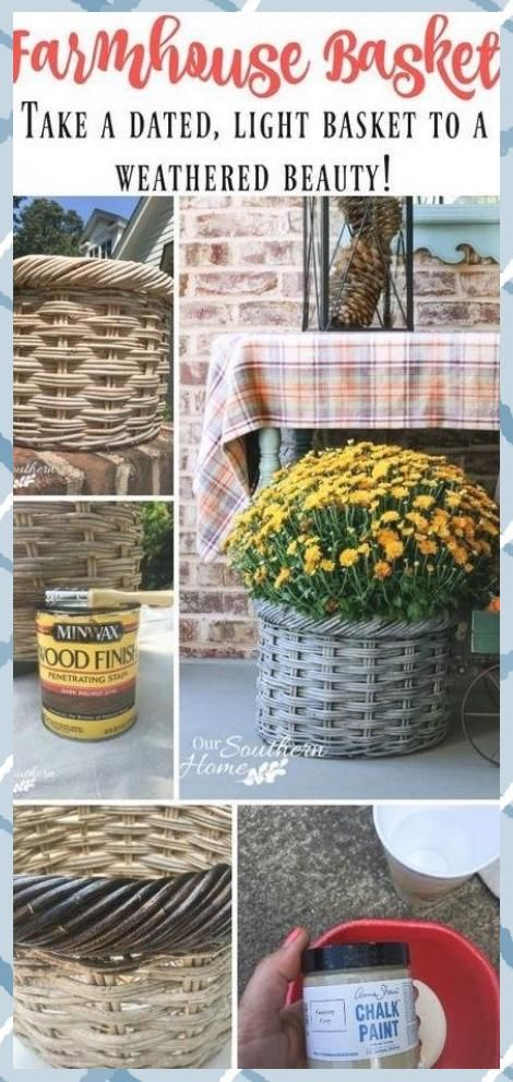 Weathered Farmhouse Basket Makeover - Our Southern Home