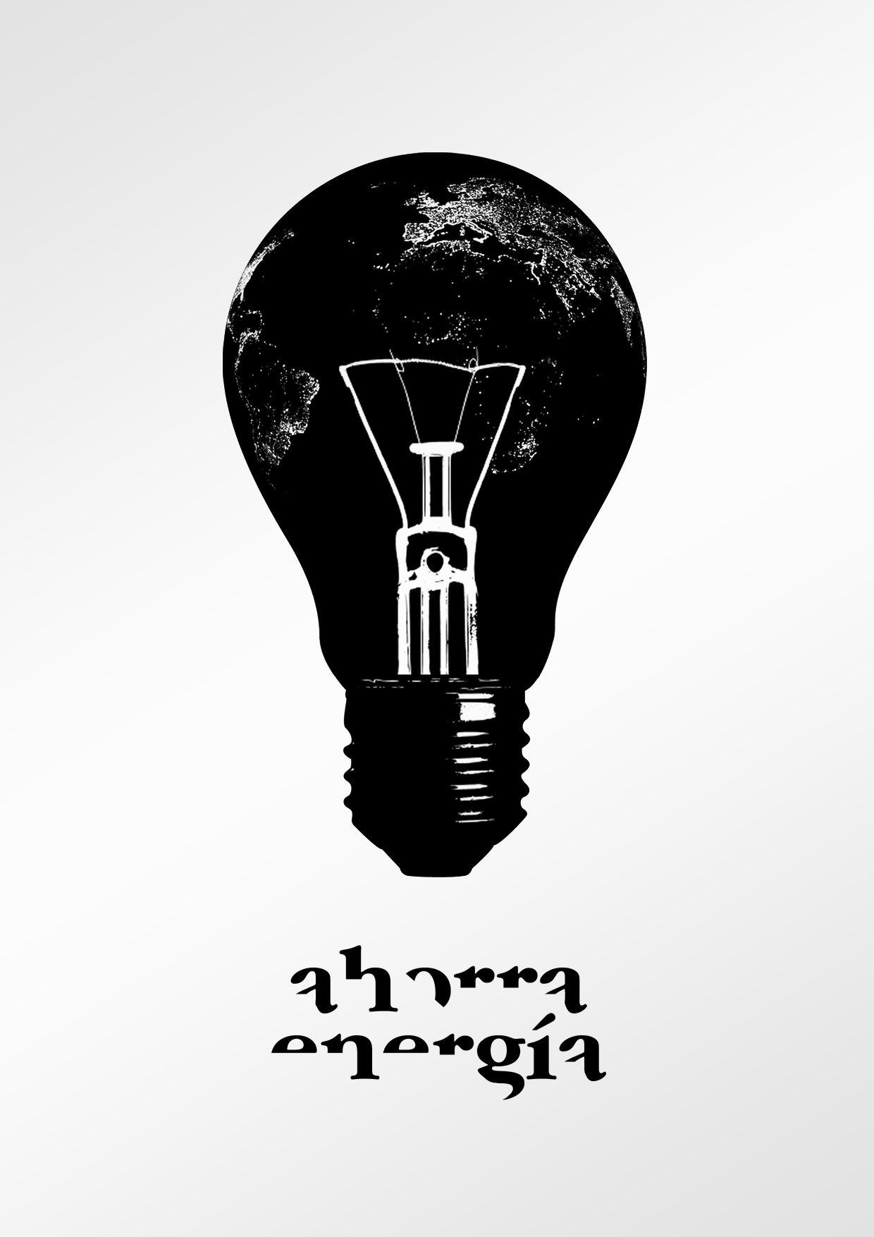 Cartel con un mensaje claro, la necesidad en el ahorro de energía.