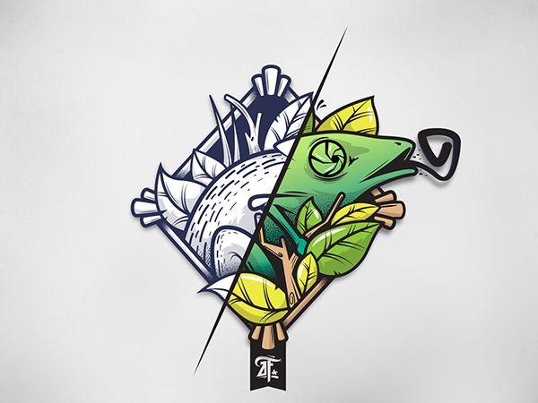 Ilustración de camaleón a pedido por el tattooer Chico Campos para su nueva…